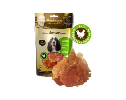 ДЕРЕВЕНСКИЕ ЛАКОМСТВА 100 % Мяса Куриные дольки нежные для собак 100 г