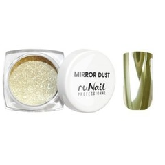 MIRROR DUST зеркальная пыль для втирки с аппликатором цвет ЗОЛОТО арт(3174)