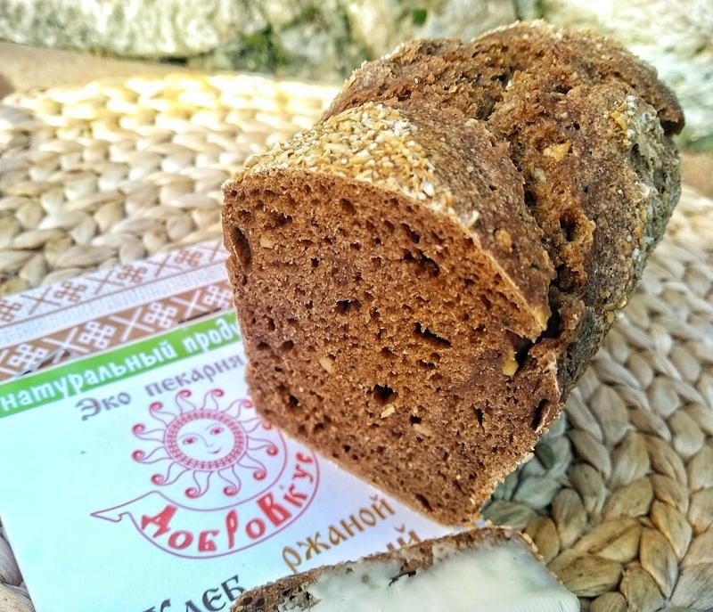 Фотография Хлеб ржаной на закваске Чесночный купить в магазине Афлора