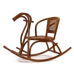 Детское кресло-качалка Лошадка (004.082) Коньяк