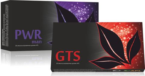 APL. Набор Аккумулированные драже APLGO PWR man+GTS для мужского здоровья и повышения тонуса