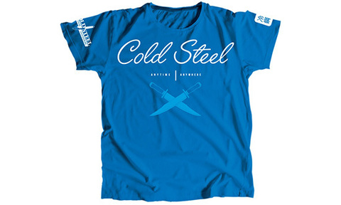Футболка женская Cold Steel модель TK2 Cursive Blue Tee Shirt Women (L)