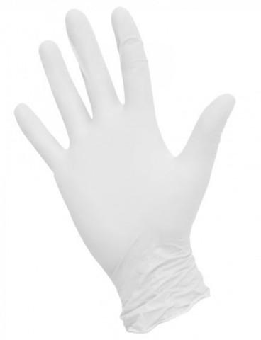 Перчатки нитриловые белые  100 шт XS