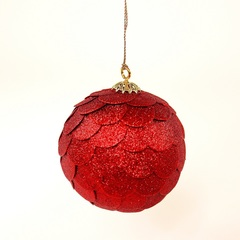 Шар новогодний декоративный Paper ball, красный EnjoyMe