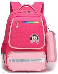 Рюкзак школьный Qix 581 Розовый + Пенал