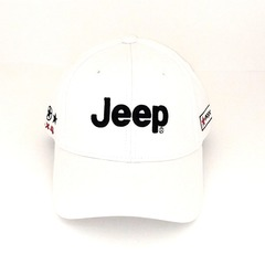 Кепка с вышитым логотипом Джип (Бейсболка Jeep) белая