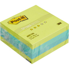 Стикеры Post-it Optima куб 2028-ONG 76х76 весна 400 л.