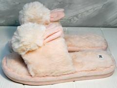 Домашние тапочки с ушками женские Yes Mile A-08 Pink