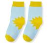Носочки для малышей голубые с рисунком Солнышко