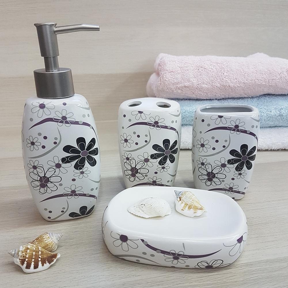Ванный набор, керамика, молочный.