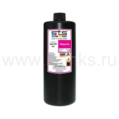 УФ - чернила STS для Agfa Jeti KM Magenta 1000 мл (UV Lamp)