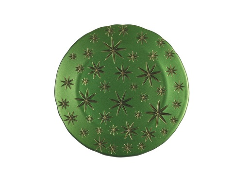 Golden Stars Charger Plate Green/Gold