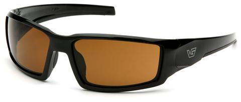 Очки баллистические стрелковые Pyramex Pagosa VGSB518T Anti-fog коричневые 23%