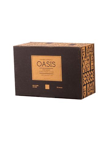 Уголь кокосовый Oasis Premium 25 мм. (72 шт, 1кг.)