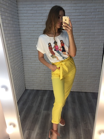 желтый летний костюм женский недорого