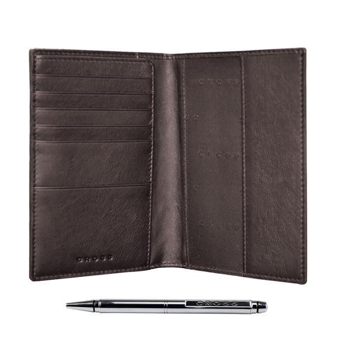 Обложка для документов Cross Nueva FV, цвет коричневый, 14 х 11 х 1 см