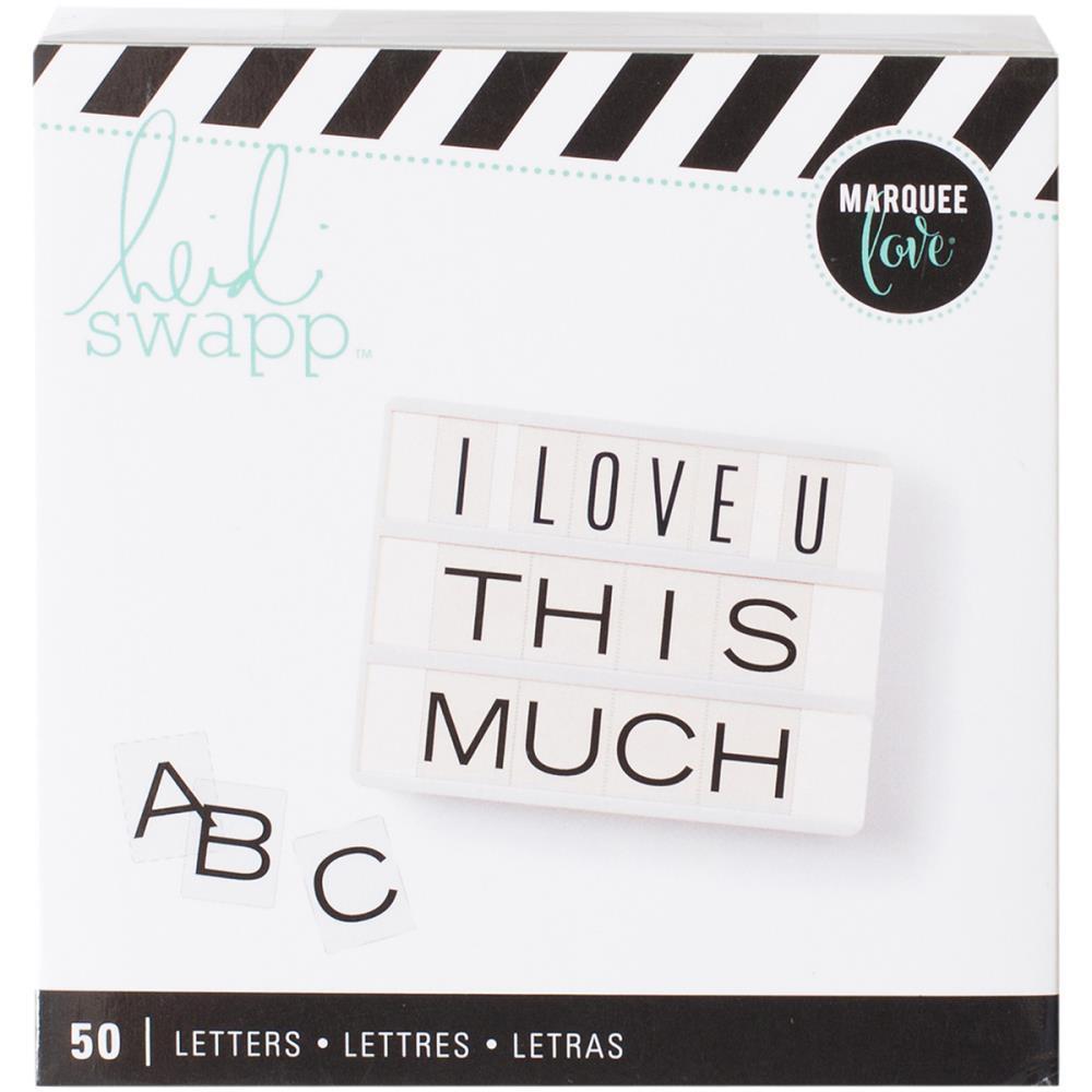 Сменный алфавит для лайтбокса Heidi Swapp Lightbox Inserts- 5,5 х 7,3см.- 50шт.