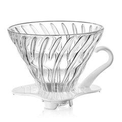 Воронка Hario 60, VDG-02w, стеклянная для приготовления кофе, белая