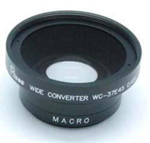 Pixco 37мм 0.45X Широкоугольный объектив с Макро (серебро) для Canon Nikon Sony Olympus Pentax Panasonic