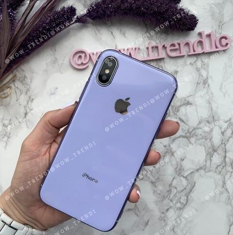 Чехол iPhone X/XS Glass Silicone Case Logo /glycine/
