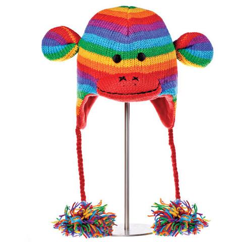 шапка с ушами Knitwits Stripe Sock Monkey