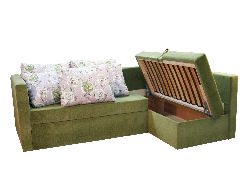 Угловой диван-кровать Карелия 2д2Я, ящик для белья
