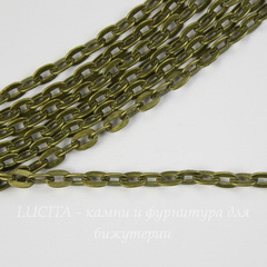 Цепь (цвет - античная бронза) 5х3,5 мм, примерно 2 м
