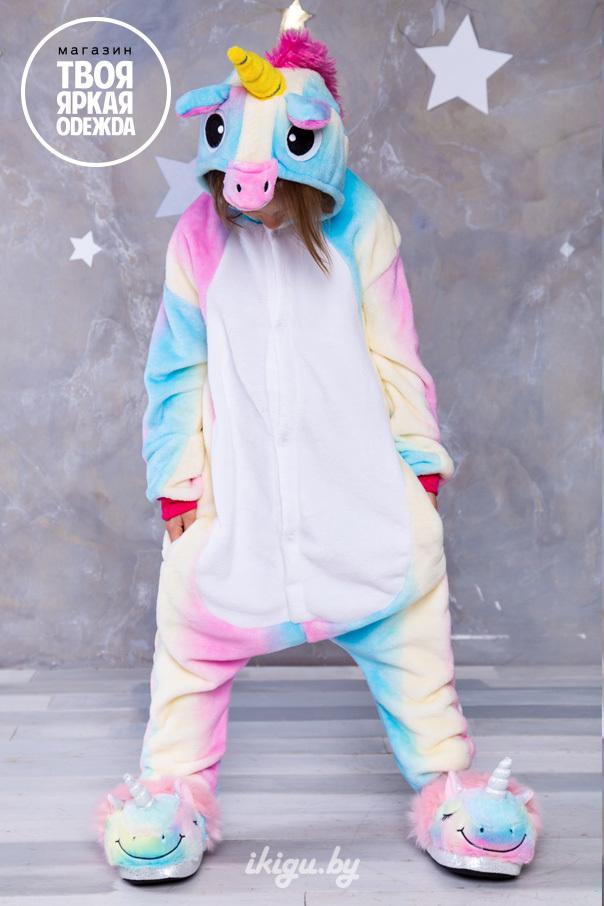 """Детские пижамы кигуруми """"Зефирный Единорог"""" зефирный.jpg"""