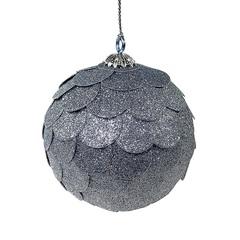 Шар новогодний декоративный Paper ball, серебрянный EnjoyMe