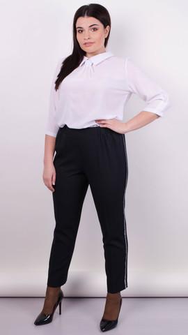 Линда. Модные брюки больших размеров. Черный.