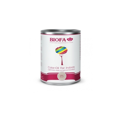 Biofa 8510 Color - Oil For Indoors. Белый. Масло для интерьера
