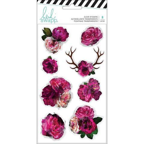 Стикеры Heidi Swapp Hawthorne Clear Stickers-  Floral- 8шт.