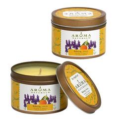 """Свеча из соевого воска """"Расслабление"""" лаванда и мандарин, Aroma Naturals"""