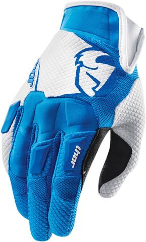 Мотоперчатки - THOR FLOW (голубые)