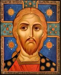 Спас Златые Власы. Икона Иисуса Христа на дереве.