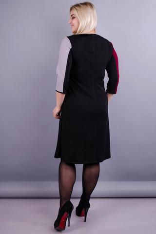 Жюлі. Гарна жіноча сукня для жінок з пишними формами. Бордо.