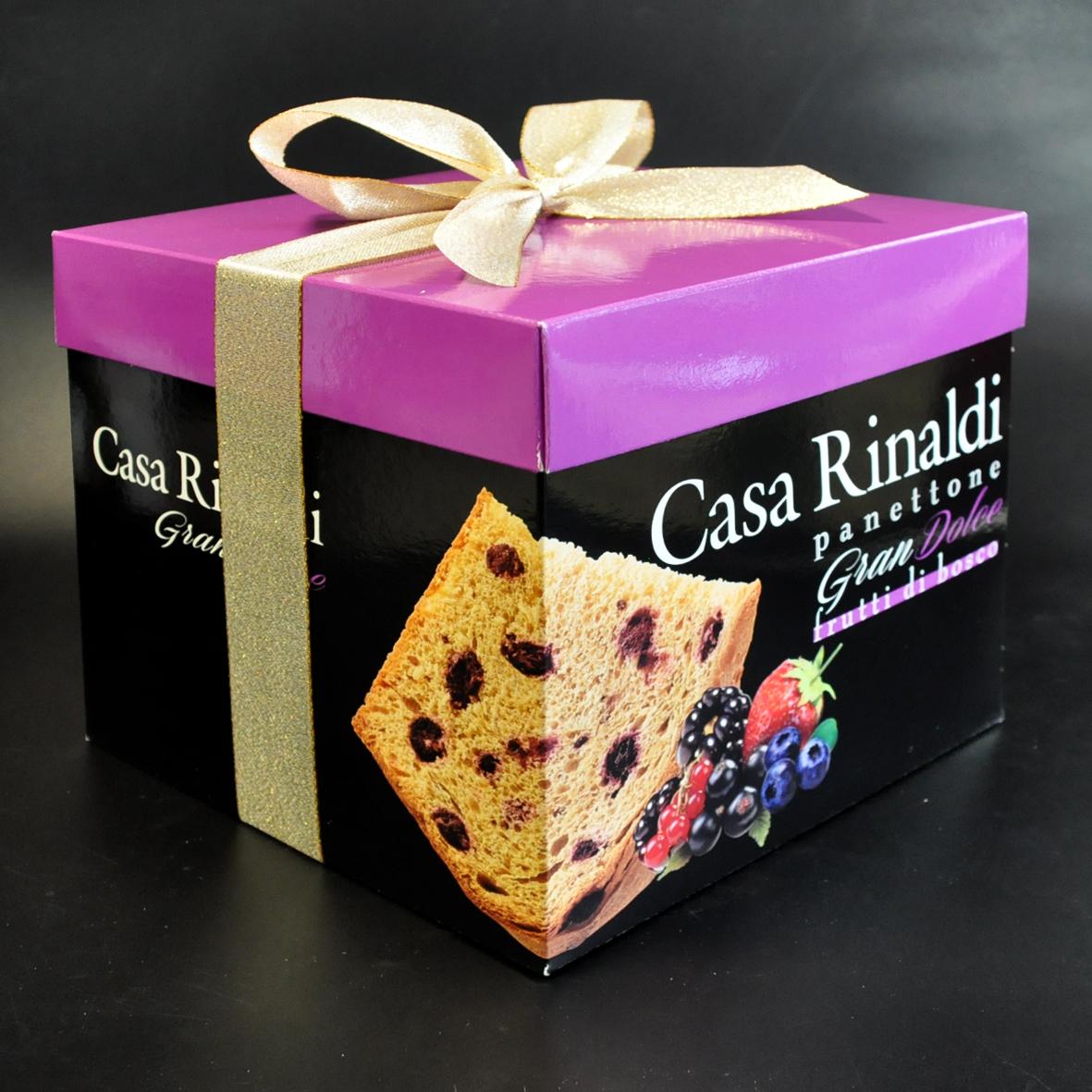 Кулич с кусочками лесных ягод в подарочной коробке Casa Rinaldi 750г