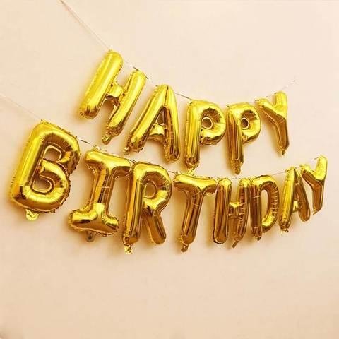 Золотые буквы Happy Birthday