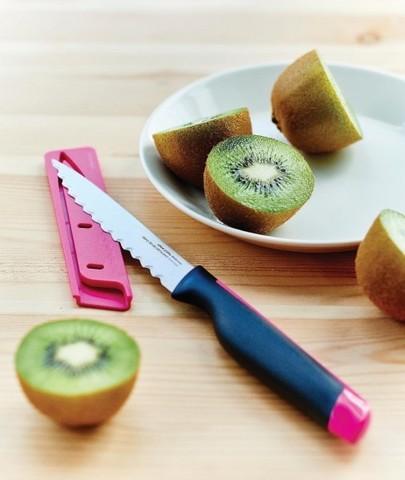 Нож для овощей Universal с чехлом в розовом цвете