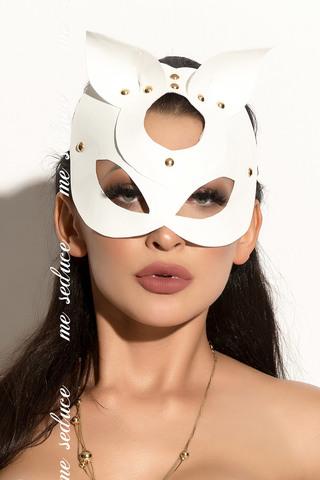 Эротическая белая маска под латекс