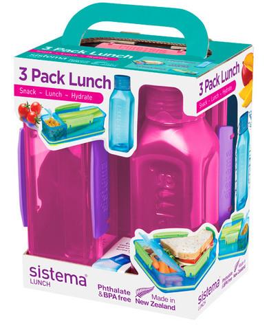 Набор Lunch: 2 контейнера и бутылка 475мл, артикул 1595, производитель - Sistema