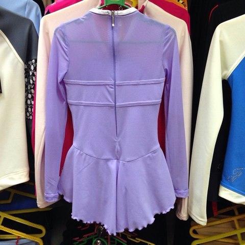 Платье для выступлений, рост 116-122 см (сиреневый)