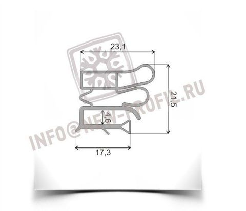 Уплотнитель 99*57 см для холодильника Vestfrost VB301 M1 (холодильная камера) Профиль 012