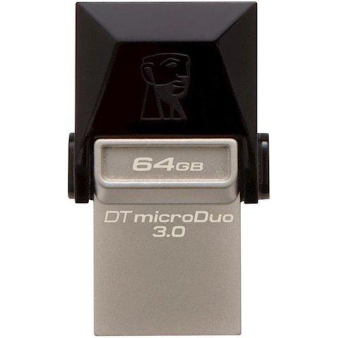 Накопитель Kingston DataTraveler MicroDuo USB 3.0/MicroUSB 64GB Grey (DTDUO3/64GB)