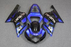 Комплект пластика для мотоцикла Suzuki GSX-R600/750 01-03 Сине-Черный
