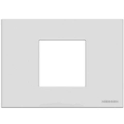 Рамка на 1 пост - 2 модуля, итальянский стандарт. Цвет Белый. ABB(АББ). Niessen Zenit(Ниссен Зенит). N2472 BL