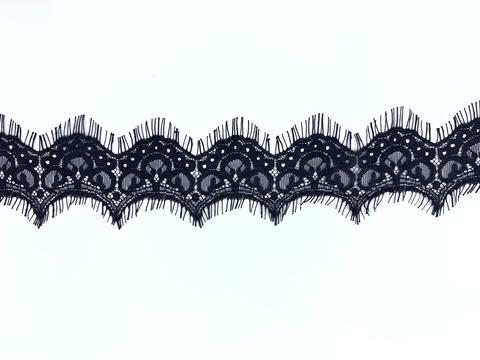 Кружево реснички чёрное (6х300 см)