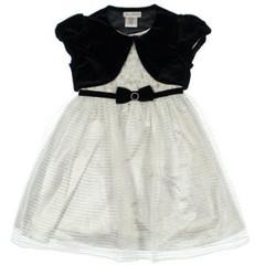 JONA MICHELLE Платье серебристое с бархатным болеро ДП36