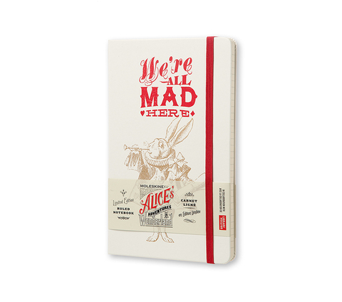Записная книжка Moleskine Alice in Wonderland, белая