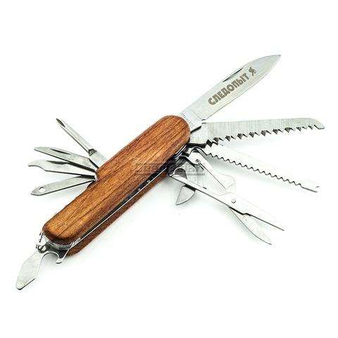 Мультитул «СЛЕДОПЫТ» (PF-MT-12) 11 В 1 деревянная ручка